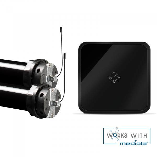 Mediola Smart Home Starterset Inkl. 2 x PRE5 30-15-60 Funkrolladenmotoren