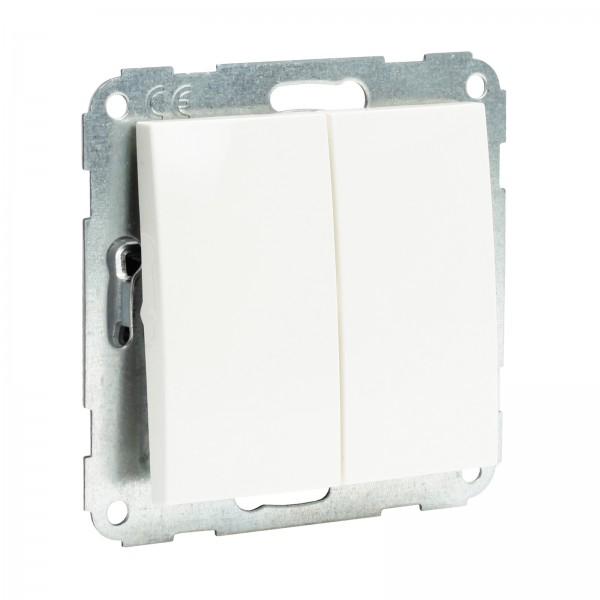 Presto-Vedder 57055-3005UW Fiorena Serienschalter mit Abdeckung Wippe neutral (für Licht)